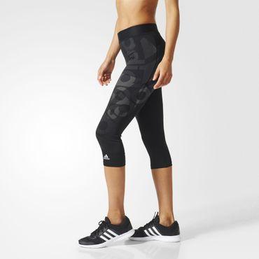 adidas Damen climalite Sport Techfit Fitness Capri Hose Badge 3/4 Tight BQ9495 – Bild 4