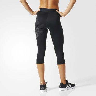 adidas Damen climalite Sport Techfit Fitness Capri Hose Badge 3/4 Tight BQ9495 – Bild 5