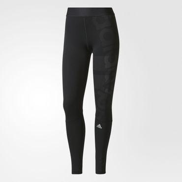 adidas Damen climalite Sport Techfit Longtight Fitness Tight Hose Badge BR7940  – Bild 1