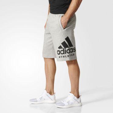 adidas Herren Sport Fitness Freizeit Athletics SID Logo Shorts BP8472 Grau Neu – Bild 4