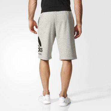 adidas Herren Sport Fitness Freizeit Athletics SID Logo Shorts BP8472 Grau Neu – Bild 5