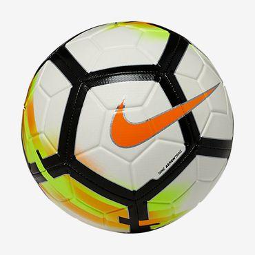 Nike Sport Freizeit Trainings Fussball STRIKE Ball Weiß Swoosh Gr. 5 Neu SC3147