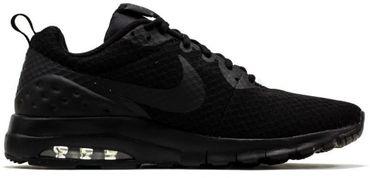 NIKE Herren Schuhe Air Max Motion LW PREMIUM Schwarz Leder Mesh Sneaker 833260 – Bild 3