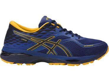 Asics Herren Sport Fitness Running Lauf Schuhe Cumulus 19 Gore Tex GTX Blau Neu – Bild 1