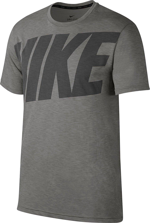 high quality exclusive range detailing Nike Herren Sport Fitness Freizeit Dri Fit T-Shirt Dry Top Grau Schwarz  905181