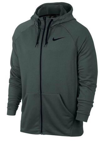Nike Herren DRI FIT Sweatjacke Hoody FLEECE Freizeit Jacke 860465 Vintage Grün