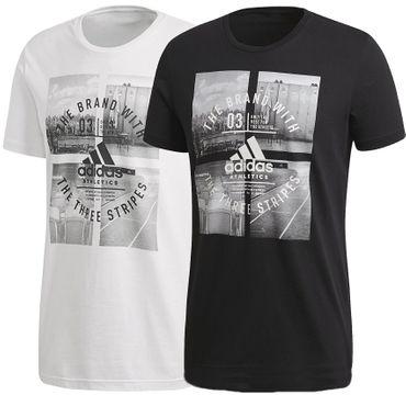 adidas Herren Sport Fitness Freizeit Shirt Athletic Vibe T-Shirt CV4523 Neu – Bild 1