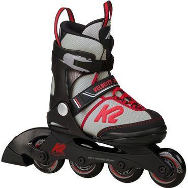 K2 Kinder Jungen Inline Skates Velocity Jr. Boys Inliner Verstellbar Grau Rot Neu – Bild 1