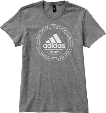 ADIDAS Herren Sport Fitness Freizeit Stretch T-Shirt ADI EMBLEM Shirt CV4518 Neu – Bild 2