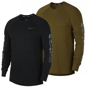 Nike Herren Dri Fit Sport Fitness Running Langarm Laufshirt Shirt Miler 929477_ AJ7568 – Bild 1