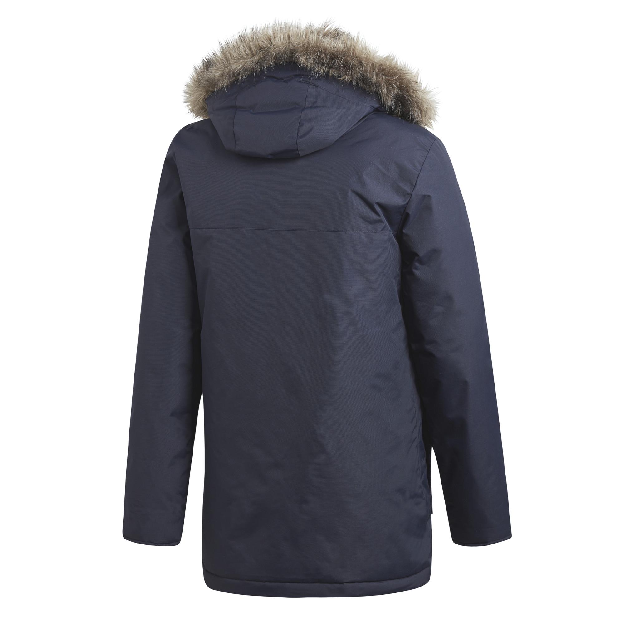 Details zu adidas Herren Winterjacke Outdoor Xploric Parka Winter Jacke  Kunstfell CY8602