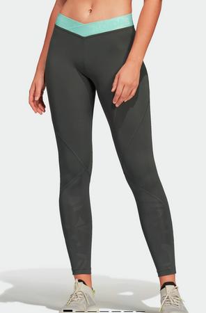 Adidas CLIMALITE Damen Fitness Workout 7/8 Tight grün DT6266 – Bild 1