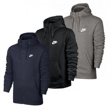 Nike Herren Männer Sport Freizeit Sweatjacke NSW Zip Club Sweat Hoodie 804389