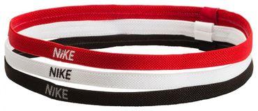 Nike Herren Damen Stirnband SWOOSH Sport Headband 3er Pack schwarz weiss rot NEU