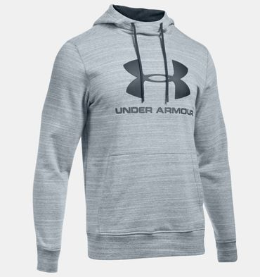 Under Armour Herren Sport Freizeit Hoodie Sportstyle Fleece Graphic1280762 Grau