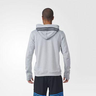 adidas Herren climawarm Lauf Running Response Icon Hoodie Sweatshirt Grau AI8221 – Bild 4