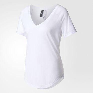 adidas Damen Jersey T-Shirt S97199/ B47336 Freizeit V-Ausschnitt – Bild 3
