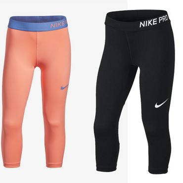 Nike Kinder Mädchen Stretch Sport Freizeit Gymnasik Capri Hose Pro Tight 890219 819608