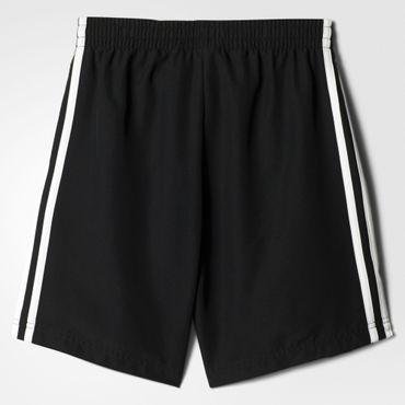 adidas Kinder Jungen Climalite 3S Fussball Sport Freizeit Shorts Schwarz BQ2828 – Bild 2