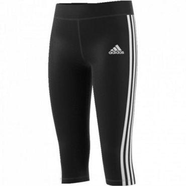 adidas Mädchen Sport Fitness Capri Hose YG 3/4 TIGHT Slim Fit BQ2873 Schwarz Neu – Bild 1