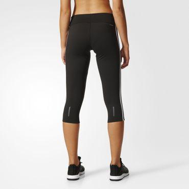 ADIDAS Damen Sport Fitness Capri Hose Tight 3S 3/4 Schwarz Weiß Climalite CE2048_ DU2043 – Bild 5