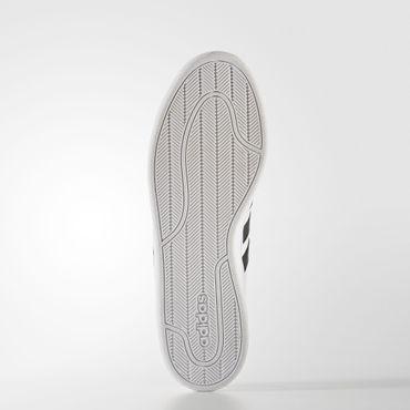 adidas Herren Leder Sport Freizeit Schuhe Cloudfoam Advantage Sneaker Weiß AW494 – Bild 3