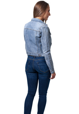 Urban Classics Damen Jeansjacke Ladies Denim Jacket – Bild 6