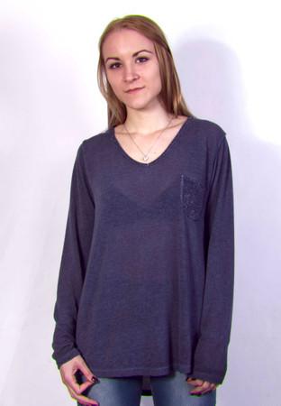 Madonna Longsleeve Top, Pullover, Bluse mit Tasche – Bild 1