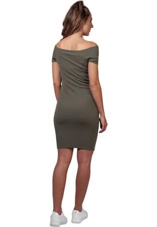 Urban Classics Damen Kleid Ladies Off Shoulder Rib Dress – Bild 5