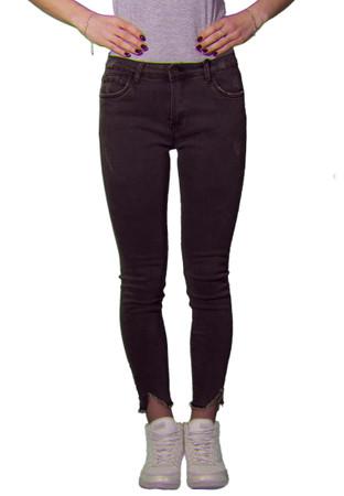 Madonna Jeans Skinny Ankle Fray Grau – Bild 1