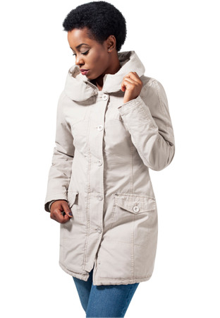 Urban Classic Damen Jacke Ladies Garment Washed Long Parka – Bild 4