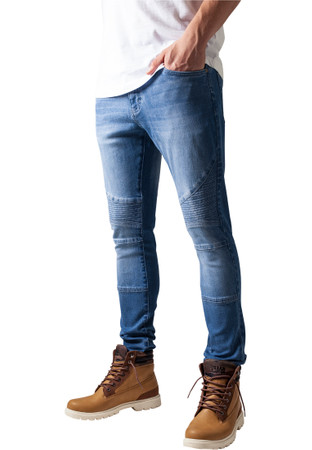 Urban Classics TB1436 Herren und Jungen Jeanshose Slim Fit Biker Jeans, Five-Pocket Stretch Biker Hose im Used Look – Bild 3