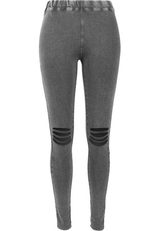 Urban Classics Damen Ladies Cutted Knee Leggings – Bild 4
