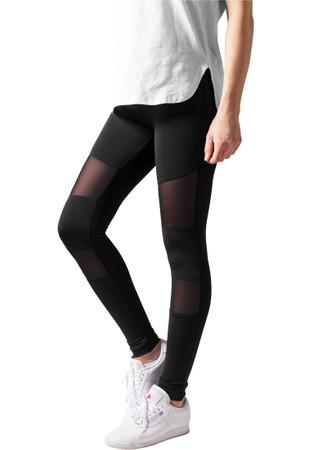 Urban Classics Ladies Tech Mesh Sport Leggings Yoga Pants schwarz – Bild 3