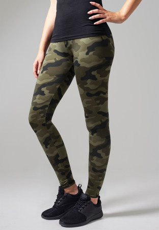 Urban Classics Damen Ladies Camo Leggings – Bild 5