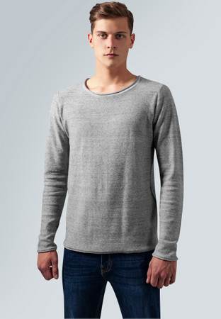 Urban Classics Herren Sweatshirt Fine Knit Melange Cotton Sweater – Bild 1