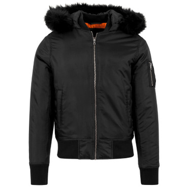 Urban Classics Hooded Basic Bomber Jacket – Bild 4
