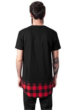Urban Classics Long Shaped Flanell Bottom Pocket Tee – Bild 2