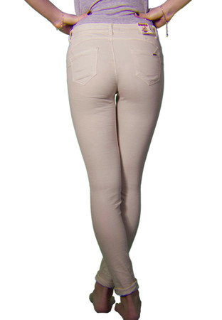 Madonna Jeans 5 Pockets Push Up in beige – Bild 2