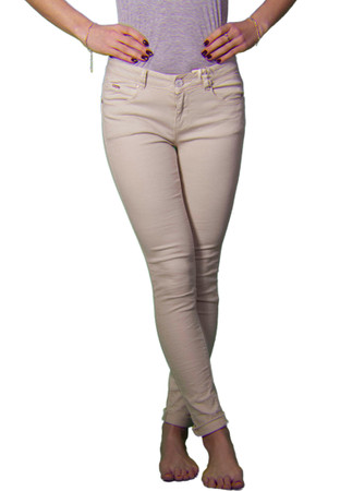 Madonna Jeans 5 Pockets Push Up in beige – Bild 1