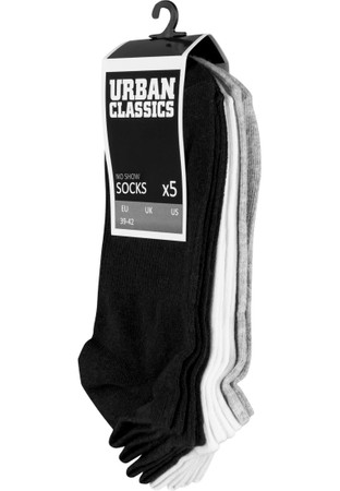 Urban Classics No Show Socks 5-Pack – Bild 1