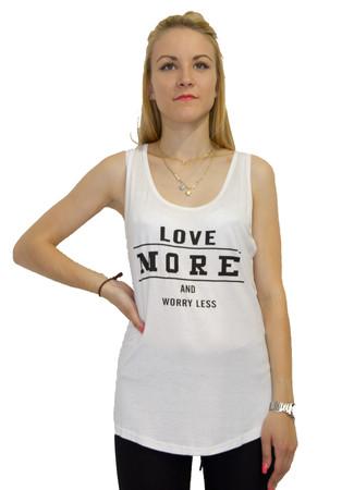 "Madonna Sexy Damen Sommer Tank Top Bluse ""Love More""  – Bild 4"