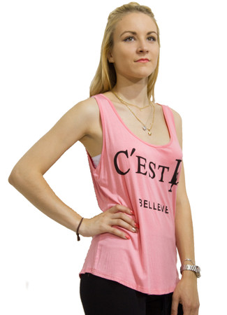 "Madonna Sexy Damen Sommer Tank Top Bluse ""C'est LA""  – Bild 1"