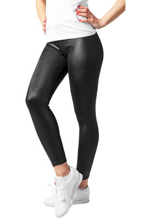 URBAN CLASSICS - Ladies Leather Imitation Leggings (black) – Bild 2