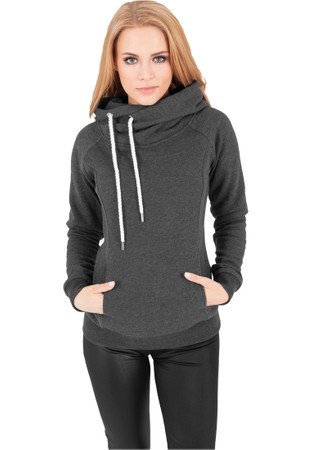 Urban Classics TB1076 Damen Kapuzenpullover Ladies Raglan High Neck Hoody – Bild 5