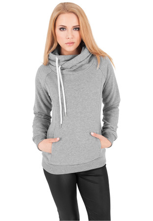 Urban Classics TB1076 Damen Kapuzenpullover Ladies Raglan High Neck Hoody – Bild 7