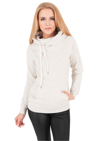 Urban Classics TB1076 Damen Kapuzenpullover Ladies Raglan High Neck Hoody – Bild 1