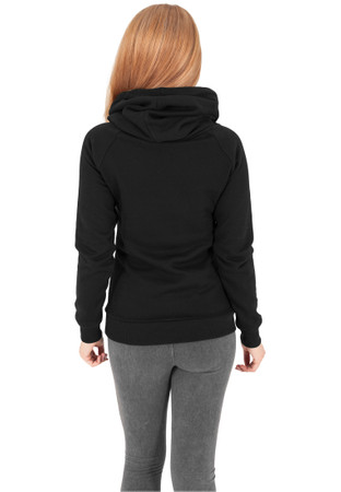 Urban Classics TB1076 Damen Kapuzenpullover Ladies Raglan High Neck Hoody – Bild 4