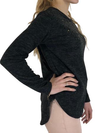 Madonna Merle Rhinestone Damen Langarm Pullover, Bluse – Bild 2