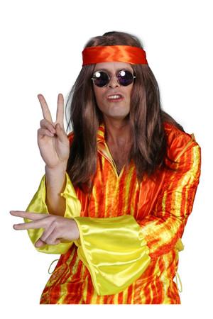 Hippie-Perücke braun